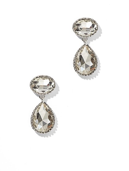 Faux-Stone Oval & Teardrop Earring  - New York & Company
