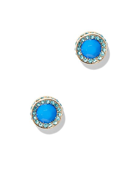 Faux Stone & Pavé Earring  - New York & Company