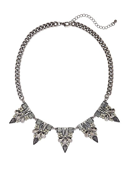 Faux-Stone Spike Necklace  - New York & Company