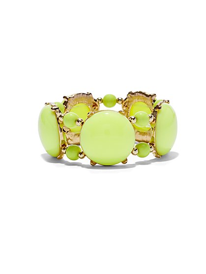 Faux-Stone Stretch Bracelet  - New York & Company