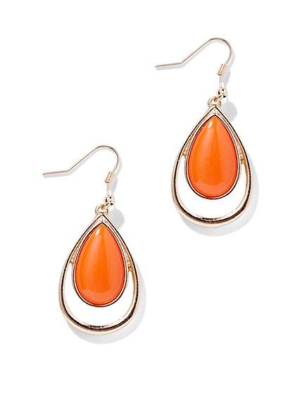 Faux-Stone Teardrop Earring  - New York & Company