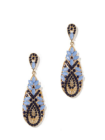 Faux-Stone Teardrop Earrings