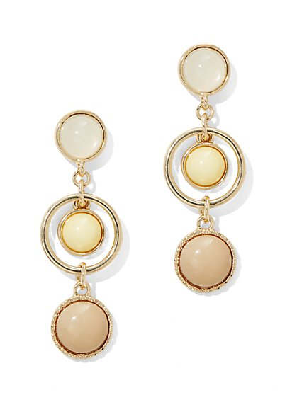 Faux-Stone Triple-Drop Post Earring  - New York & Company