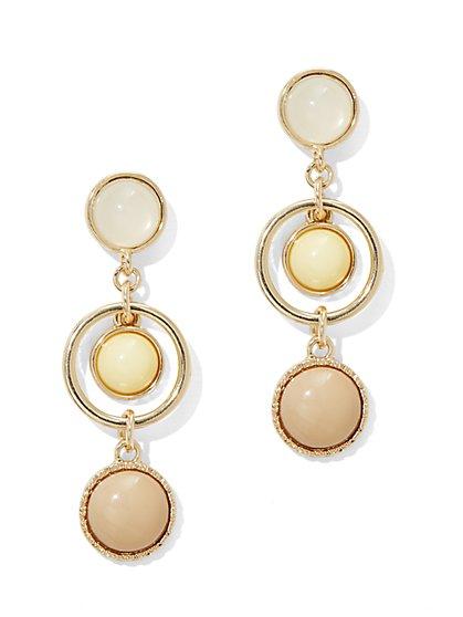 Faux-Stone Triple-Drop Post Earring  - New York & Company