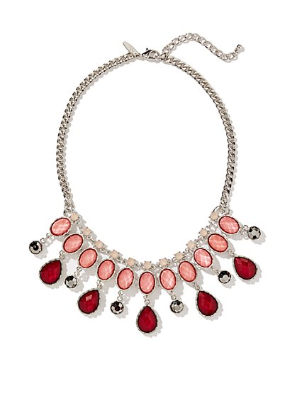 Faux-Stone Triple-Row Necklace  - New York & Company