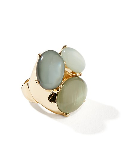 Faux-Stones Stretch Ring