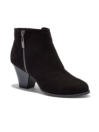 Faux-Suede Ankle Bootie - New York & Company