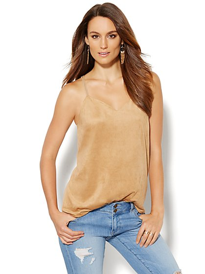 Faux-Suede Camisole - New York & Company