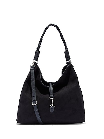 Faux-Suede Hobo Bag  - New York & Company