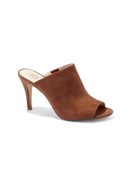 Faux-Suede Mule  - New York & Company