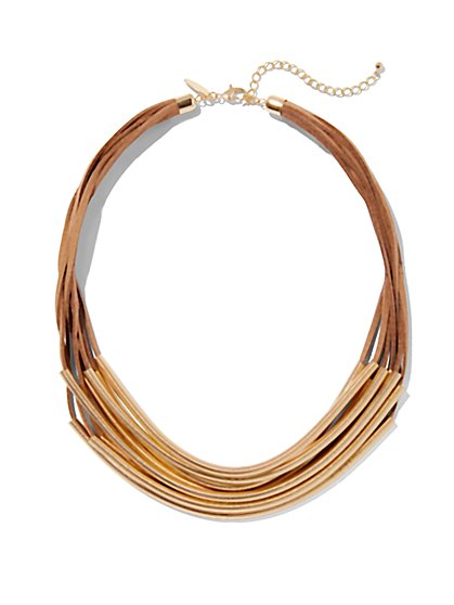 Faux-Suede Necklace  - New York & Company