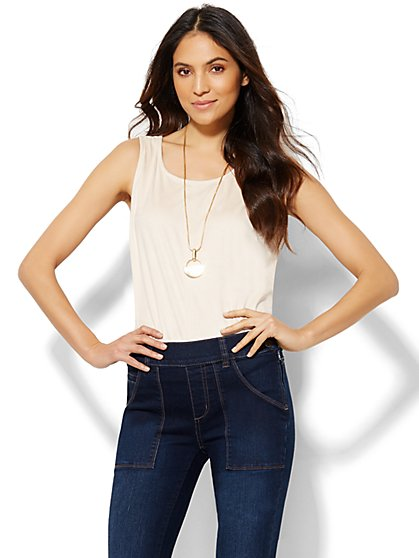 Faux-Suede Tank Top  - New York & Company