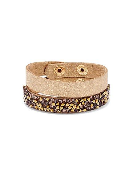Faux-Suede Wrap Bracelets  - New York & Company