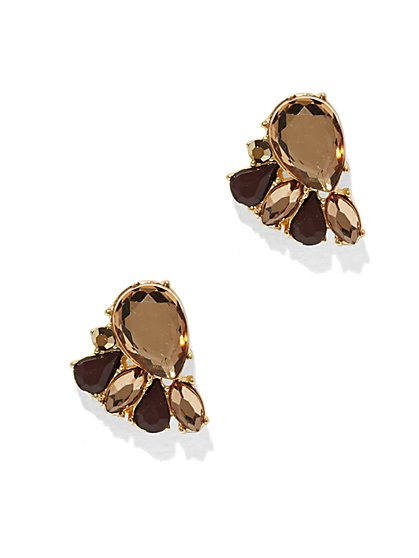 Faux-Topaz Teardrop Post Earring  - New York & Company