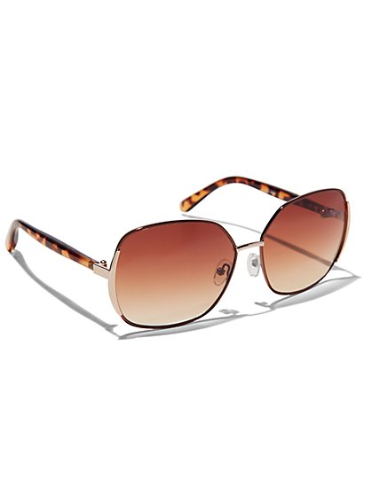 Faux-Tortoise Sunglasses  - New York & Company