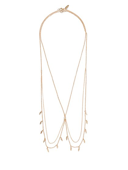 Feather Double-Lariat Necklace  - New York & Company