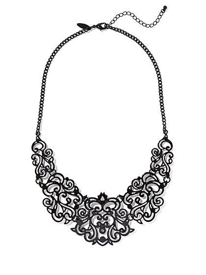 Filigree Bib Necklace  - New York & Company