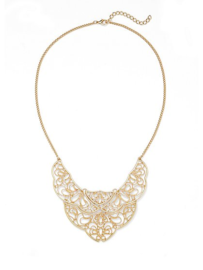 Filigree Bib Necklace - New York & Company