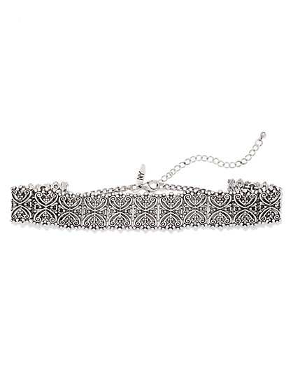 Filigree Choker Necklace  - New York & Company