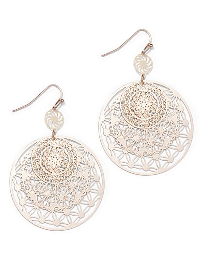 Filigree Circle Drop Earring  - New York & Company
