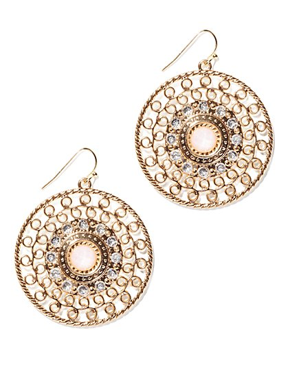Filigree Disc Earring