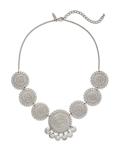 Filigree Disk & Coin Pendant Necklace  - New York & Company