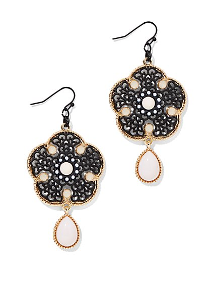Filigree Double-Drop Earring  - New York & Company