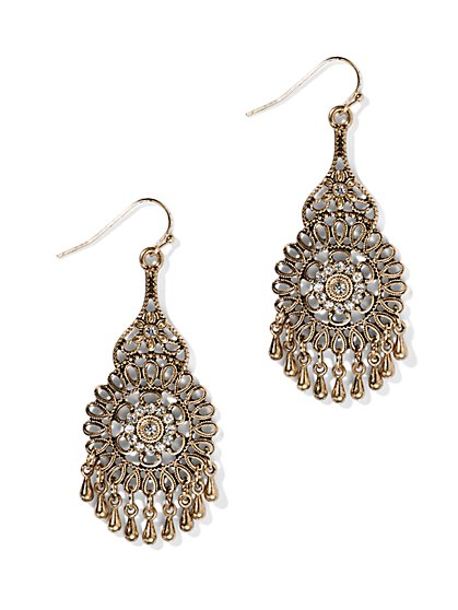 Filigree Drop Earring  - New York & Company