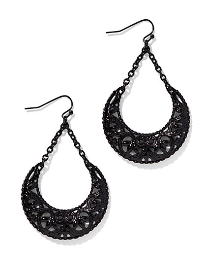 Filigree Half-Moon Earring  - New York & Company
