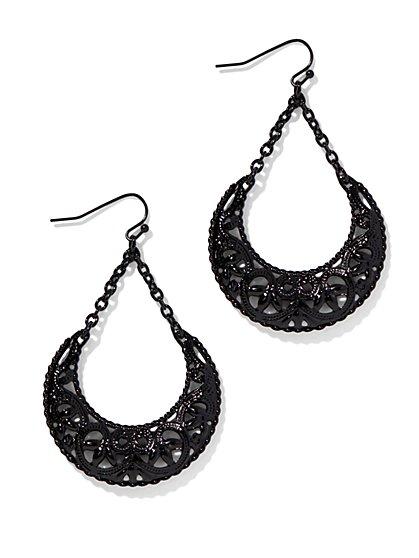 Filigree Half-Moon Earring  - New York & Company