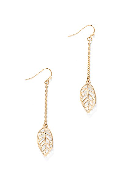 Filigree Leaf Drop Earring  - New York & Company