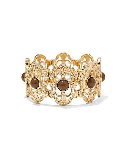 Filigree Medallion Hinge Bracelet  - New York & Company