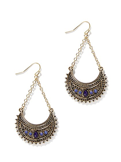 Filigree Semi-Circle Earring  - New York & Company