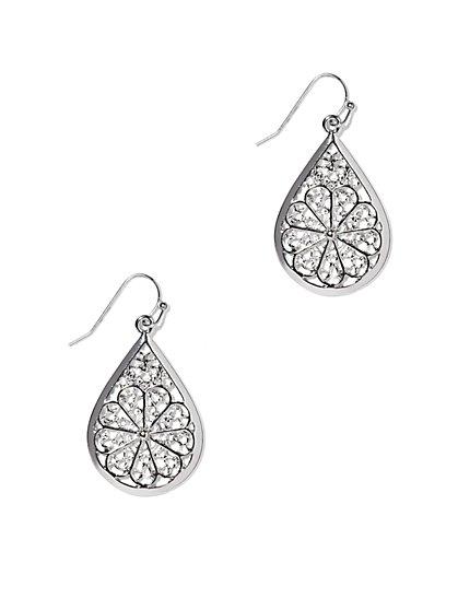 Filigree Teardrop Earring  - New York & Company