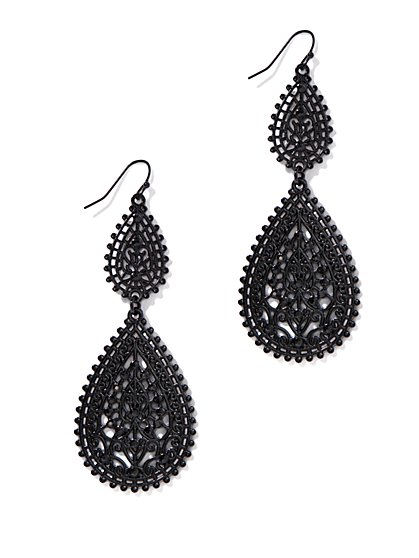Filigree Teardrop Earrings  - New York & Company