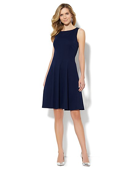 Fit & Flare Interlock Dress