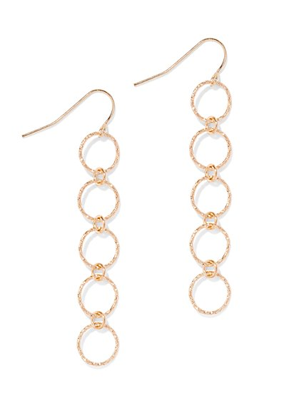 Five-Circle Linear Drop Earring  - New York & Company