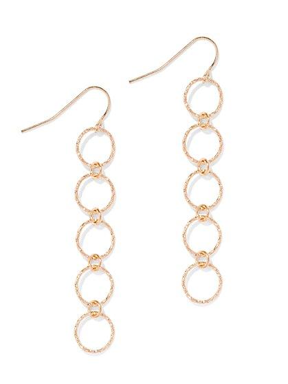 Five-Circle Linear Drop Earring  - New York & Company