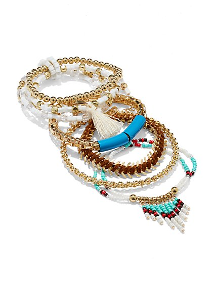 Five-Piece Beaded Bracelet Set  - New York & Company