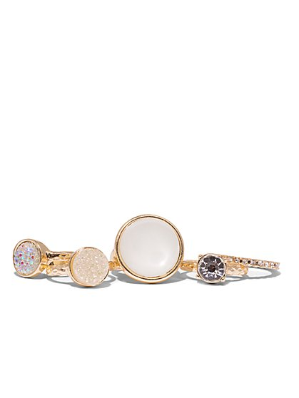 Five-Piece Goldtone Ring Set  - New York & Company