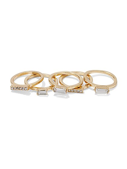 Five-Piece Sparkling Ring Set  - New York & Company