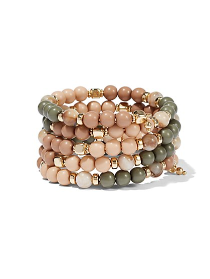 Five-Row Beaded Bracelet  - New York & Company