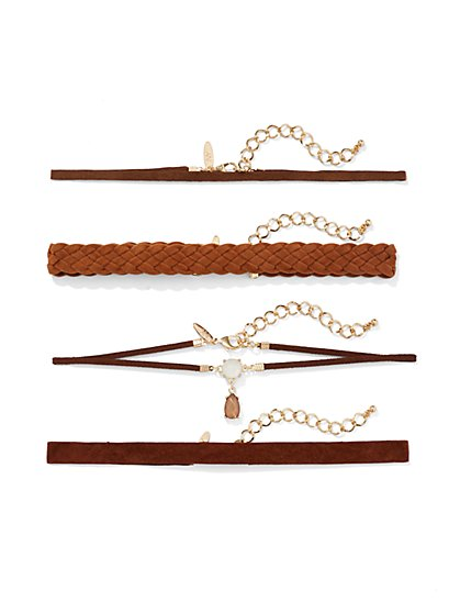 Five-Row Choker Necklace Set  - New York & Company