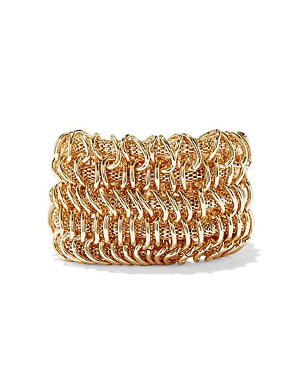 Five-Row Mesh Stretch Bracelet  - New York & Company