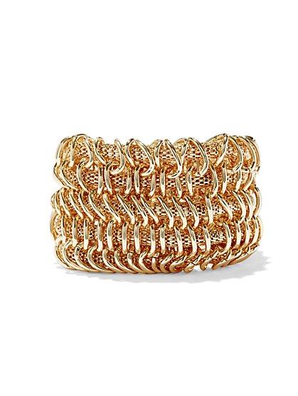 Five-Row Mesh Stretch Bracelet  - New York & Company