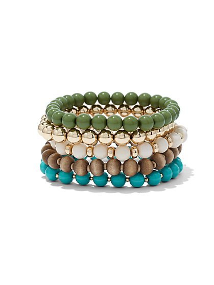 Five-Row Stretch Bracelet  - New York & Company