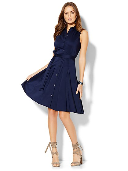 Flare Shirtdress - Petite  - New York & Company