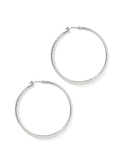 Flat Hoop Earring  - New York & Company