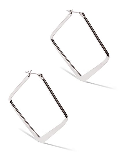Flat Square Hoop Earring  - New York & Company