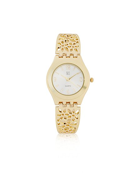 Floral Bangle Watch  - New York & Company